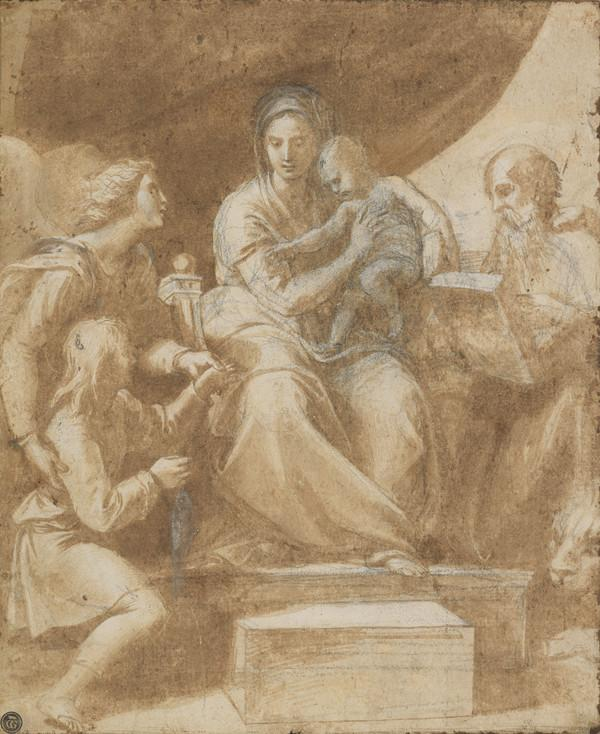 Study for the Painting 'Madonna del Pesce' (About 1512 -14)