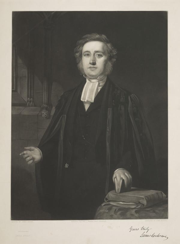 Rev. James Cochrane. Minister at Cupar, Fife (Published 1852)