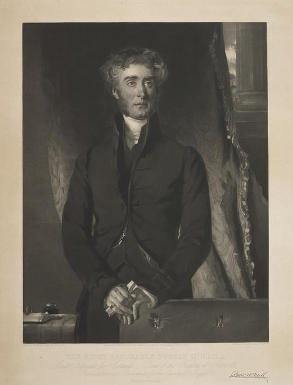 The Right Honourable Duncan McNeill, 1793 - 1874. Lord Advocate for Scotland