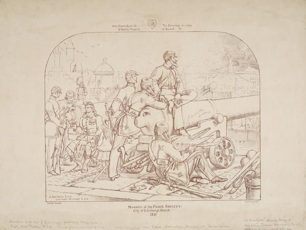 Sir Joseph Noel Paton, 1821 - 1901. Artist. [Group - Members of the Peace Society, City of Edinburgh Branch, 1861, includes James Archer] (Published 1861)
