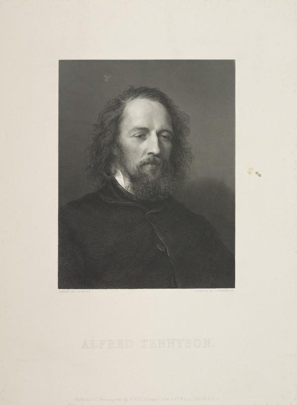 Alfred Tennyson, 1st Baron Tennyson, 1809 - 1892. Poet Laureate (1862)