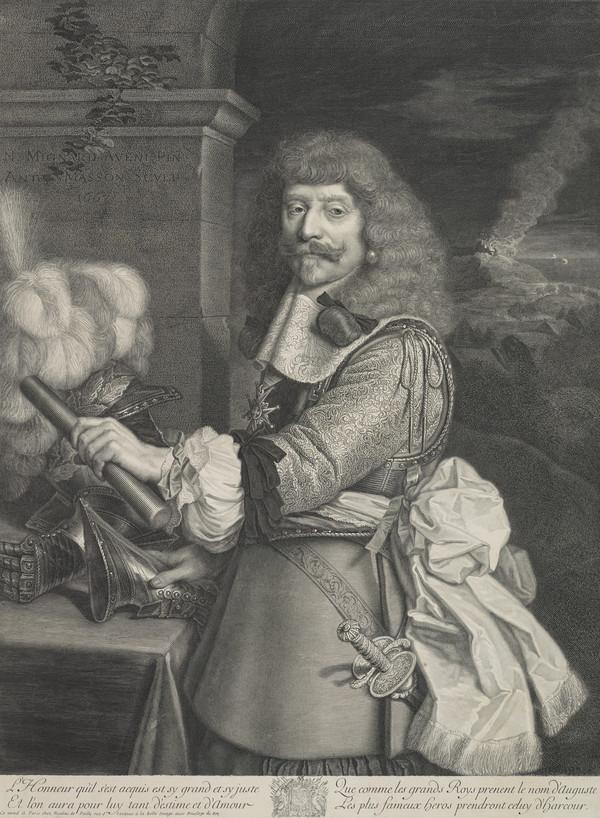 """Portrait of Henri de Lorraine, Count of Harcourt, known as """"le Cadet à la Perle""""; (1667)"""