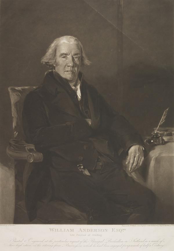 William Anderson, fl. 1815. Bookseller; Provost of Stirling