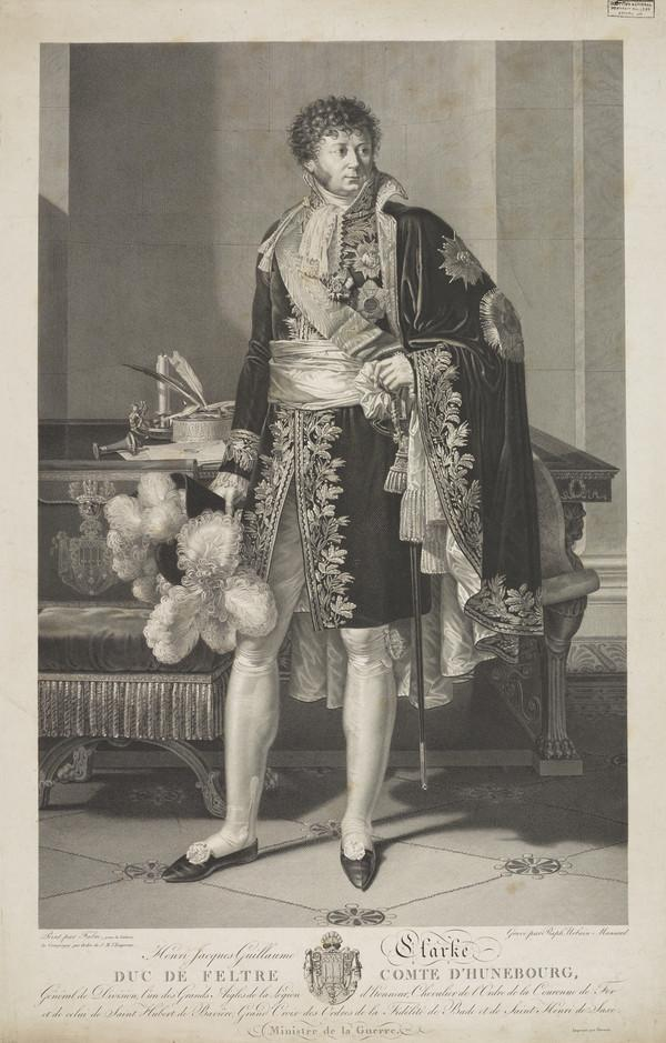 Henri Jacques Guillaume, Duc de Feltre, 1765 - 1818. Marshal of France and Minister of War