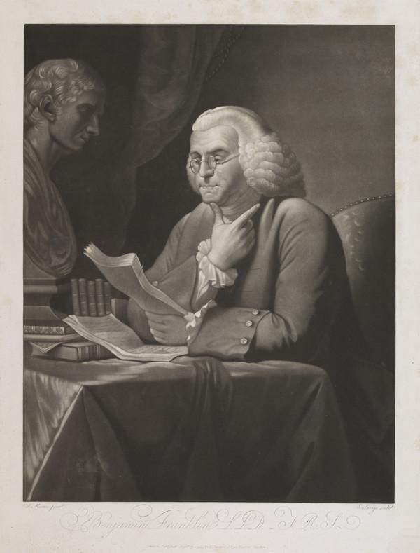 Benjamin Franklin, 1706 - 1790. American statesman, philosopher and author (Published 1793)