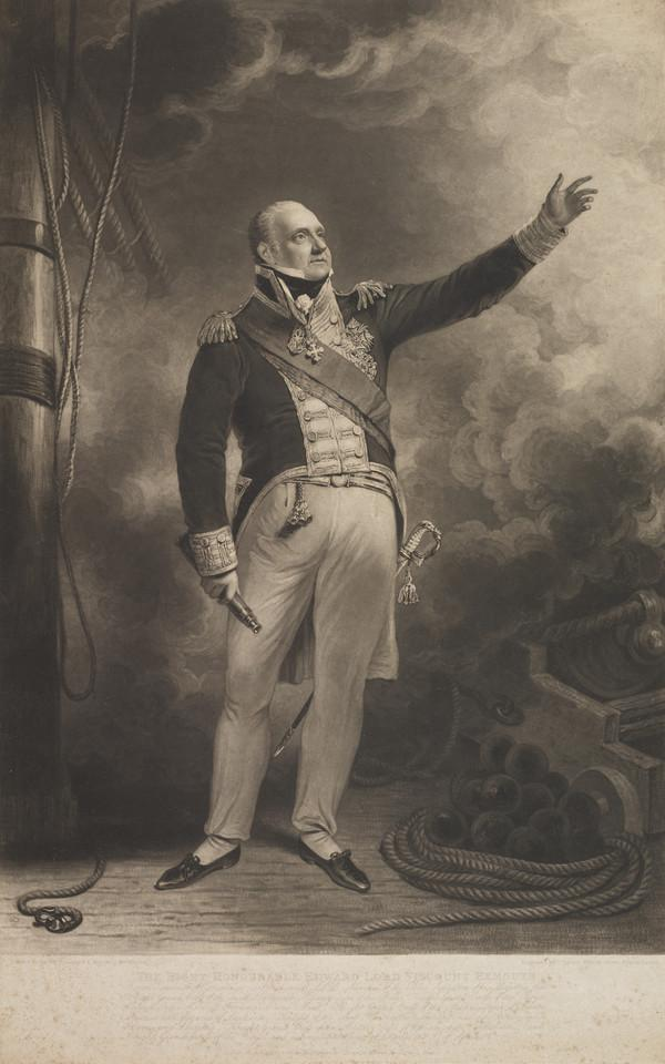 Edward Pellew, 1st Viscount Exmouth, 1757 - 1833. Admiral (Published 1818)