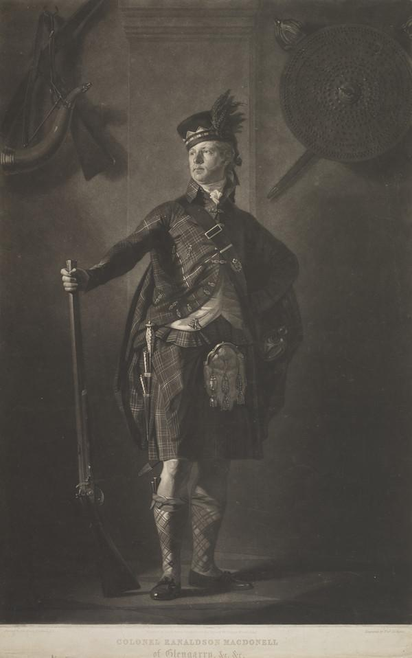 Colonel Alastair Ranaldson Macdonell of Glengarry, d. 1828. Highland chief
