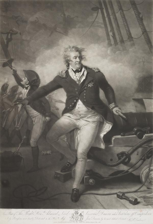 Adam Duncan, 1st Viscount Duncan of Camperdown - victorious off Camperdown (Published 1 May 1800)