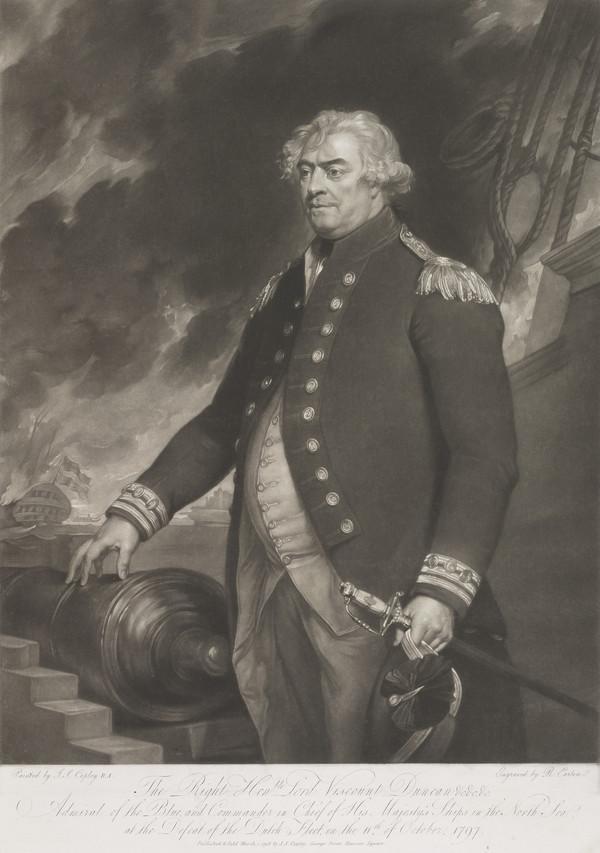 Adam Duncan, 1st Viscount Duncan of Camperdown, 1731 - 1804. Admiral (engraving after PG 2965) (1798)
