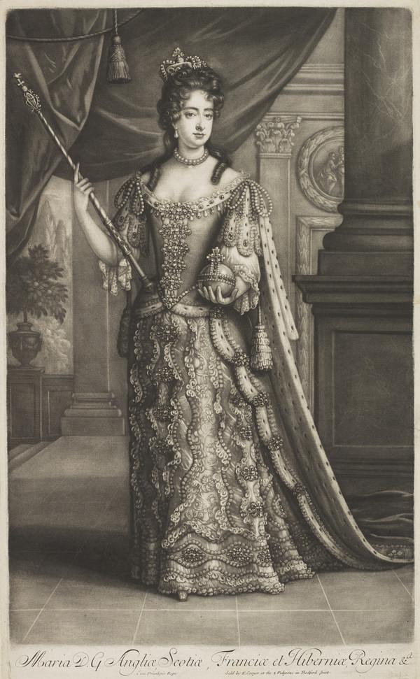 Mary II, 1662 - 1694. Reigned jointly with William III, 1688 - 1694.