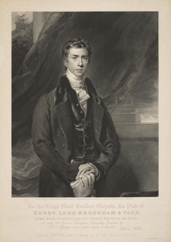 Henry Peter Brougham, 1st Baron Brougham and Vaux, 1778 - 1868. Statesman (Published 1831)