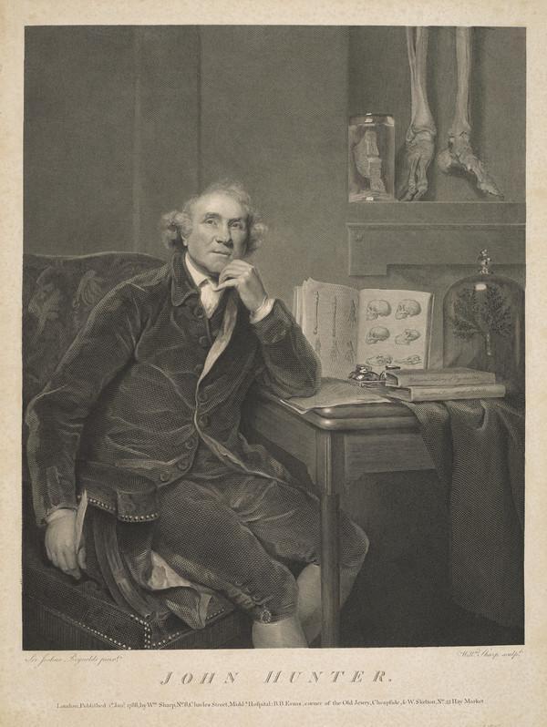 John Hunter, 1728 - 1793. Surgeon and anatomist (Published 1788)