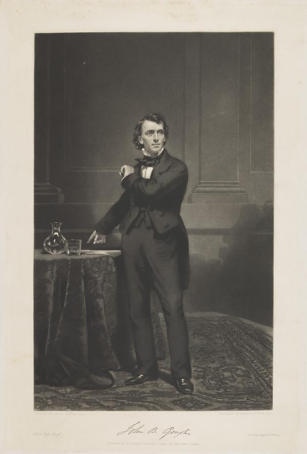 John B. Gough. Temperance reformer