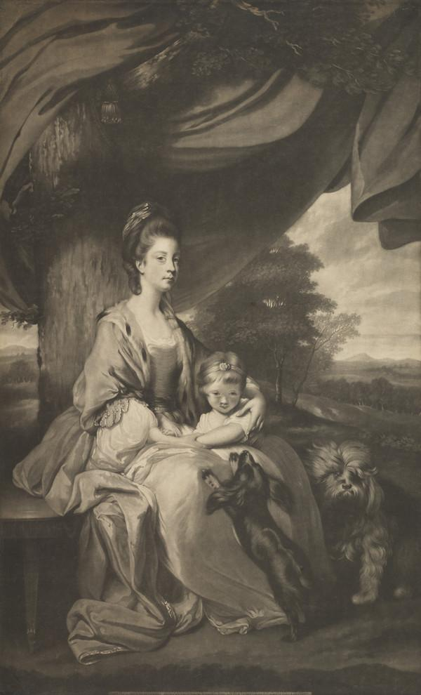 Elizabeth Brudenell-Montagu, Duchess of Buccleuch, 1743 - 1827. Wife of the 3rd Duke of Buccleuch (Published 1775)