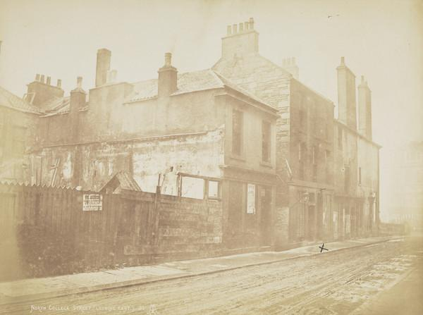 North College Street, 'I served my apprenticeship in that marked x'