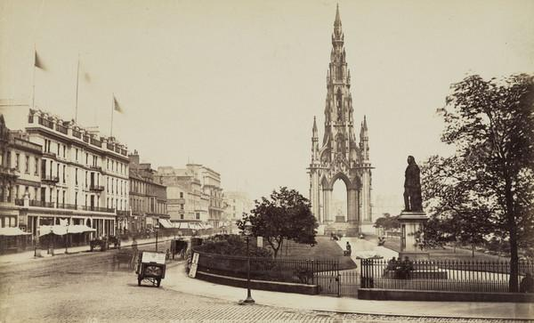 The Sir Walter Scott Monument and Princes Street, Edinburgh
