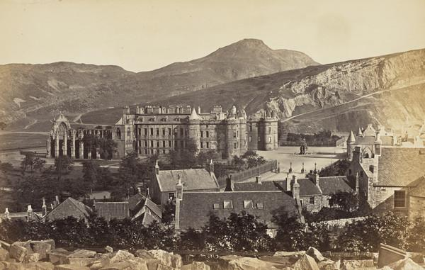 Holyrood Palace and Arthurs Seat, Edinburgh 1869