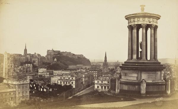 Edinburgh from Calton Hill, 1869