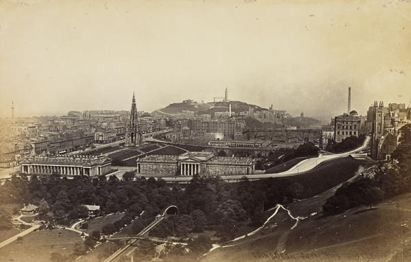 Edinburgh from the Castle, 1869
