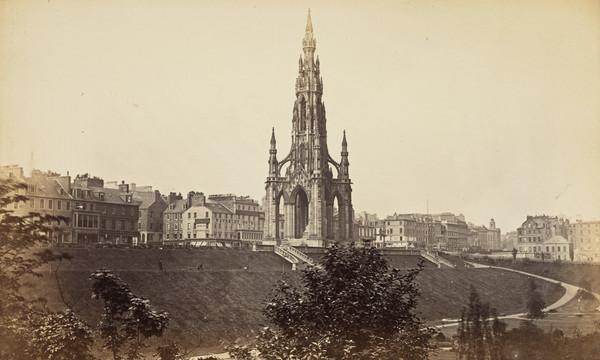 Princes Street and the Sir Walter Scott Monument, Edinburgh 1869