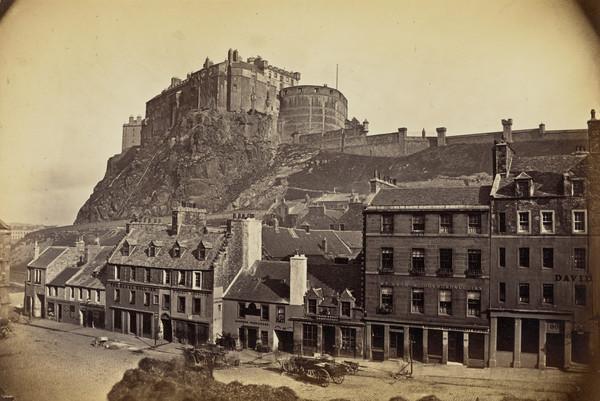 The Castle and Grassmarket, Edinburgh 1869