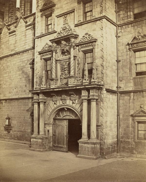 Doorway of Heriot's Hospital, Edinburgh