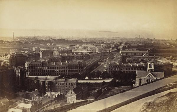 'Leith from Calton Hill' (1869)