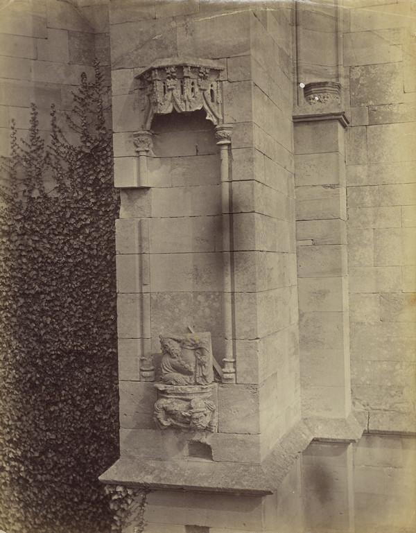 Architectural detail ?, Melrose Abbey (March - April 1866)