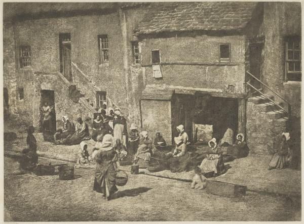 North Street, Fishergate, women and children baiting the lines [St Andrews 36] (1843 - 1847)