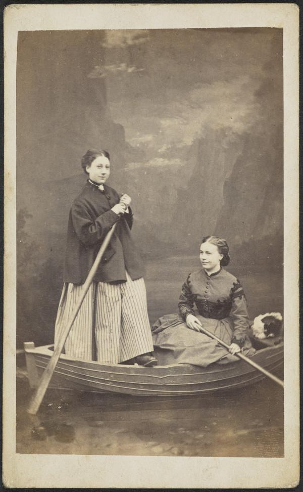 Unknown Young Women in a Boat (About 1863)