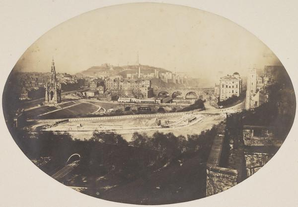 Edinburgh from the Castle (About 1850)