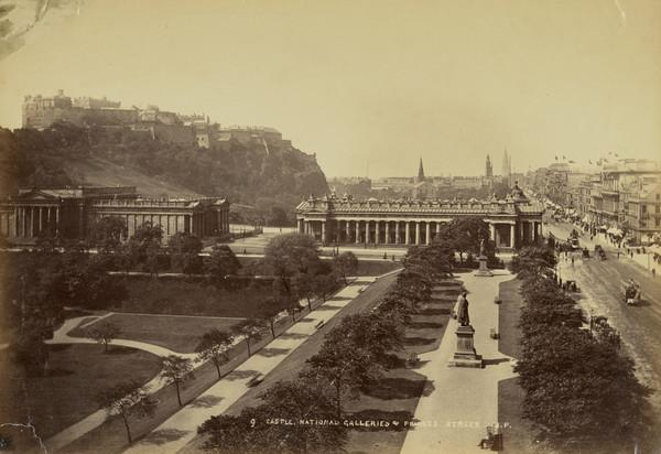 The Castle, The National Gallery and Princes Street