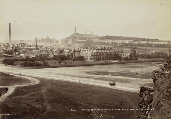 Holyrood and Calton Hill from St. Anthony's Chapel