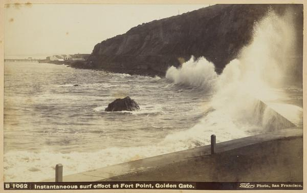 Instantaneous Surf Effect at Fort Point, Golden Gate, San Francisco