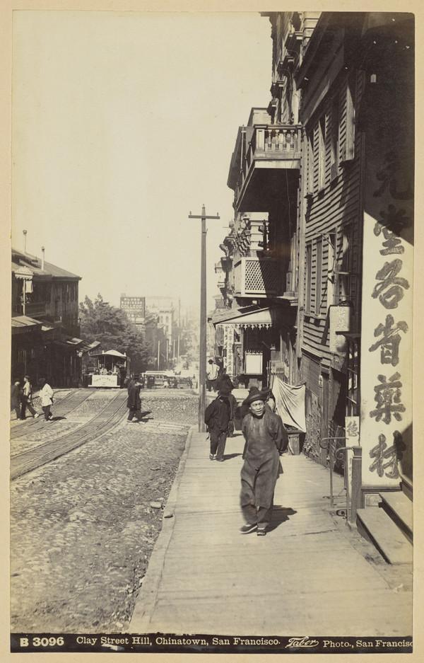 Clay Street Hill, Chinatown in San Francisco, California