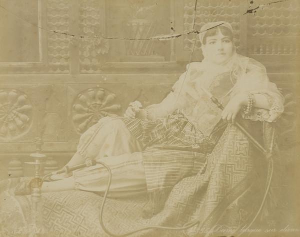 Unknown Egyptian ? Woman Smoking