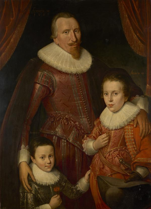 George Seton, 8th Lord Seton and 3rd Earl of Winton, 1584 - 1650. Royalist (With his sons, George, Lord Seton, 1613 - 1648 and Alexander, 1st... (1625)