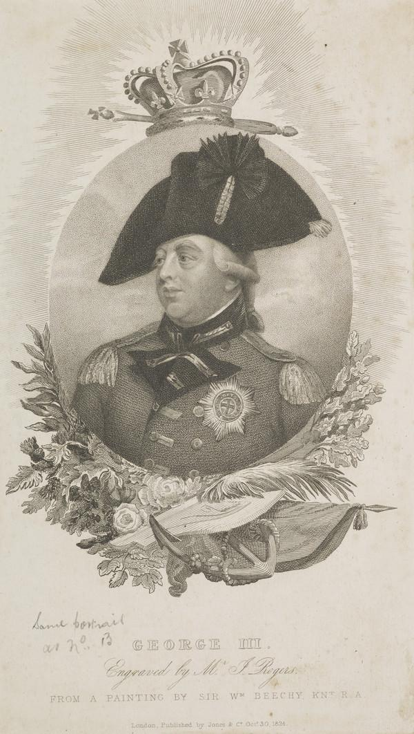 George III, 1738 - 1820. Reigned 1760 - 1820 (Published 1824)