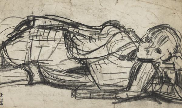 Boy Reclining on the Ground