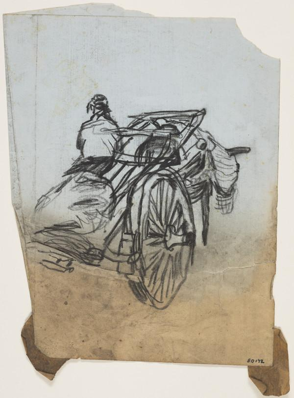 Figure on a Horse-Drawn Cart