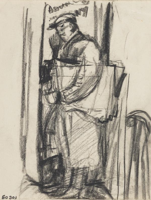 Man in a Doorway with a Bundle under his Arm