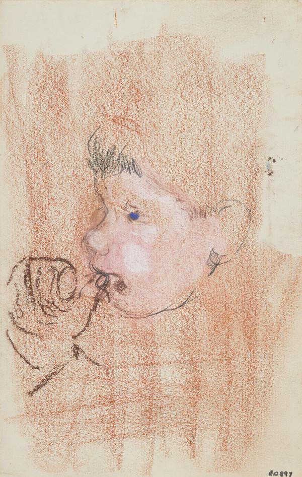 Head of a Boy (Andrew Macaulay), Sucking his Thumb