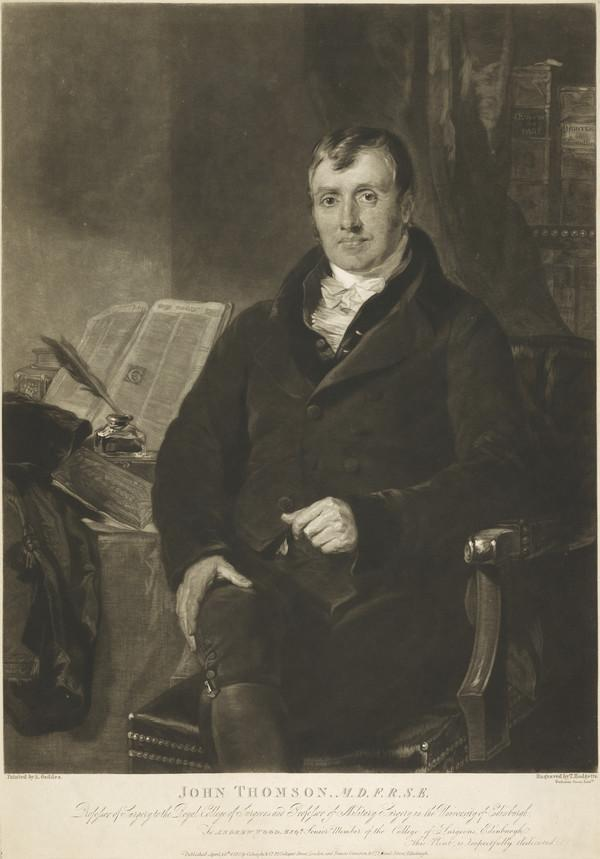 John Thomson, 1765 - 1846. Physician and surgeon (Published 1820)