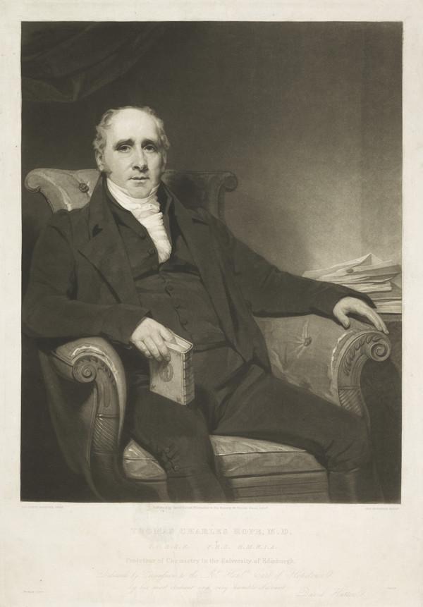 Thomas Charles Hope, 1766 - 1844. Professor of Chemistry