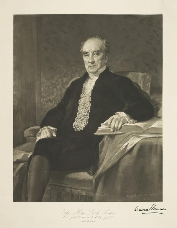 Lord David Mure, 1865 - 1889. Senator of the College of Justice