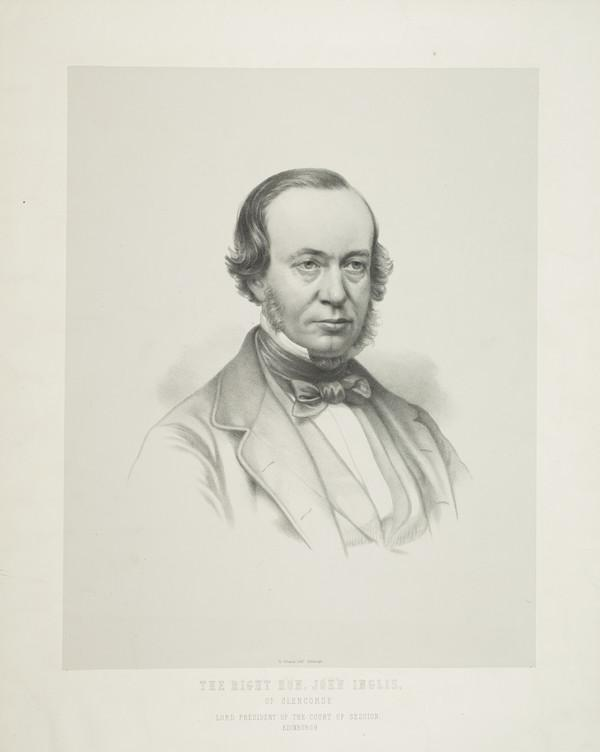 John Inglis, Lord Glencorse, 1810 - 1891. Lord President of the Court of Sessions
