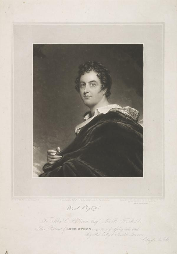 George Gordon, 6th Lord Byron, 1788 - 1824. Poet (Published 1826)