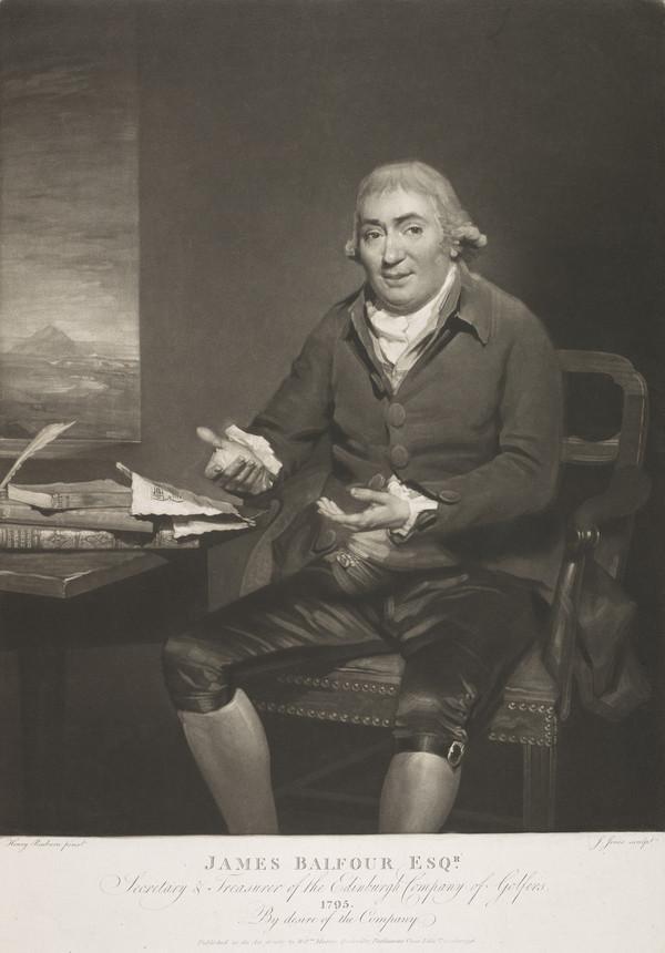 James Balfour, 1705 - 1795. Secretary, Edinburgh Company of Golfers (Published 1796)