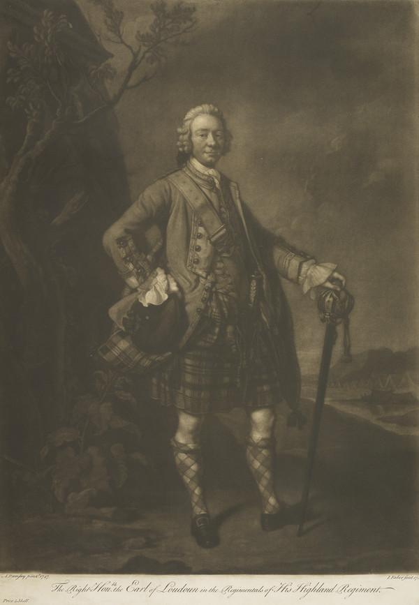 John Campbell, 4th Earl of Loudoun, 1705 - 1782. Soldier (1755)