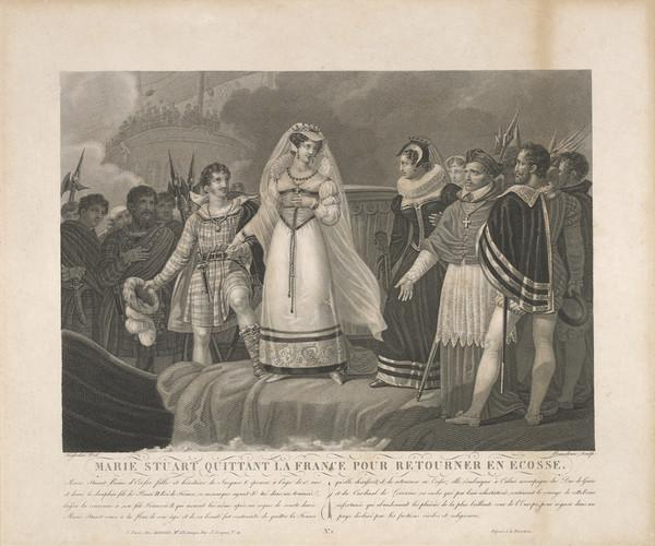 Scene from the Life of Mary, Queen of Scots (Published about 1850)